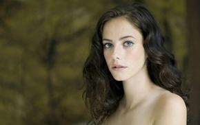Kaya Scodelario, brunette, looking at viewer, blue eyes, girl