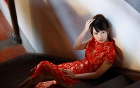 Asian, model, qipao, girl, Chinese dress, Cheongsam