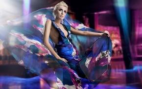 dress, makeup, wind, model, girl, fashion
