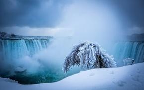 winter, Niagara Falls, waterfall