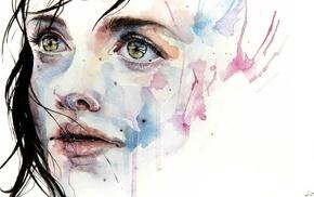 watercolor, artwork, painting