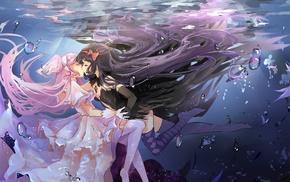 Mahou Shoujo Madoka Magica, Akuma Homura, anime, anime girls, Kaname Madoka, yuri