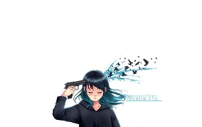 suicide, girls with guns, , gun, emotion, original characters