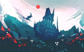 fantasy art, digital art, nuclear, witch