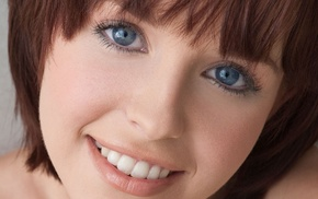 closeup, looking at viewer, pornstar, short hair, Hayden Winters, smiling