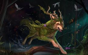 wolf, animals, fantasy art, furry