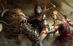 fantasy art, artwork, warrior