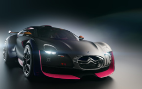 Citroen Survolt, electric car, vehicle, Citron, supercars, car
