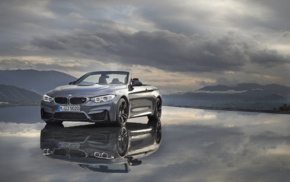 BMW M4, Convertible, reflection, BMW M4 Cabrio, car, vehicle
