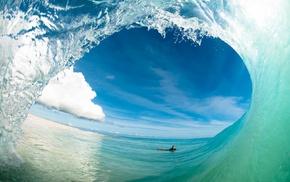 sea, waves, nature
