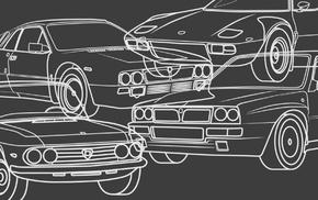 Lancia Delta, vector, rally cars, Rally, Lancia Stratos, car