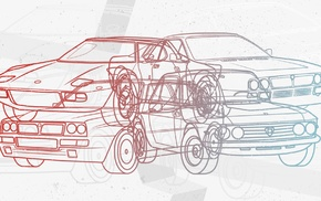 vector, Rally, rally cars, illusions, Lancia Stratos, Lancia Delta