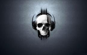 music, skull