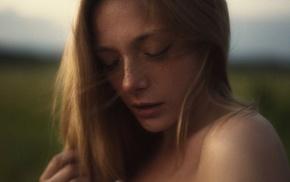 Olga Kobzar, girl, model, portrait, face