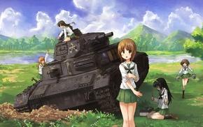 anime girls, Nishizumi Miho, Girls und Panzer, anime, Takebe Saori, Akiyama Yukari