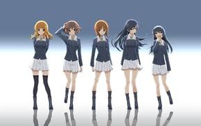 school uniform, Girls und Panzer, Ooarai Girls High School, anime, Nishizumi Miho, anime girls