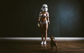 b, authentique, girl, stormtrooper, Star Wars, underwear