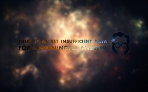 the last question, blurred, Isaac Asimov, typography, space