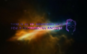 space, Isaac Asimov, typography, blurred