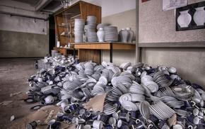 room, cutlery, workshops, vases, interior, mugs