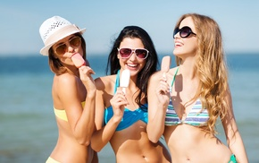 ice cream, girl, model