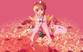 Monogatari Series, Oshino Shinobu, anime girls, barefoot