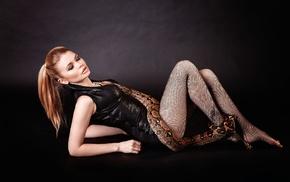 snake, reptiles, model, girl