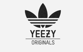brands, white background, logo, Adidas