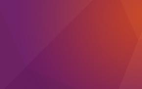 Linux, gradient, minimalism, Ubuntu