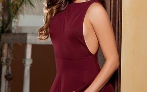 Playboy, dress, brunette, long hair, Kalyn DeClue, girl