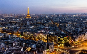 Eiffel Tower, France, cityscape, sunset, architecture, city