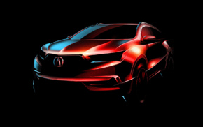 Acura MDX, concept art, SUV, vehicle, simple background, car