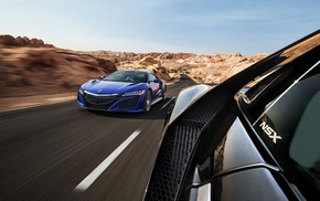 Acura NSX, motion blur, car, vehicle, road