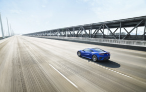 vehicle, Acura NSX, car, road, motion blur