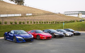 Acura NSX, parking lot, vehicle, car
