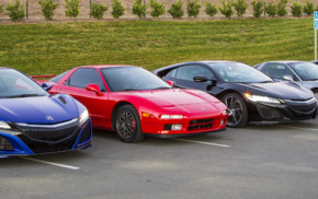 multiple display, vehicle, Acura NSX, car, dual monitors, parking lot