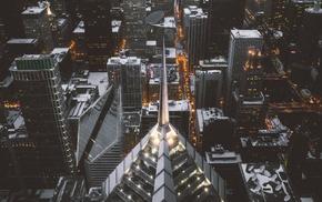 Chicago, winter, cityscape
