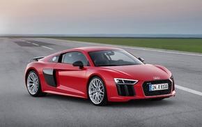 Audi R8, Super Car, red cars, car, vehicle