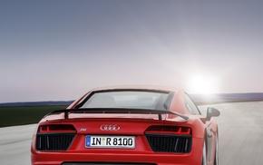 portrait display, red cars, vehicle, Audi R8, car, Super Car