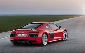 car, vehicle, Super Car, Audi R8, red cars