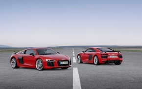 vehicle, Super Car, Audi R8, car, red cars