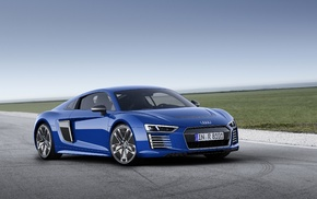 Super Car, electric car, Audi R8, blue cars, vehicle, car