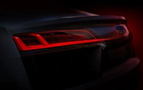 artwork, Audi R8, car, Tailights, vehicle, Super Car