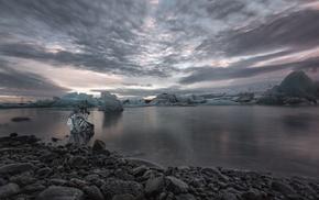 photography, cold, sea, sunset, sky, landscape