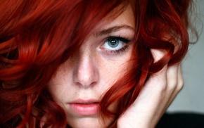 blue eyes, freckles, redhead, girl