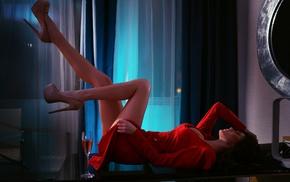 Svetlana Bilyalova, legs, Ivan Gorokhov, hands in hair, heels, brunette