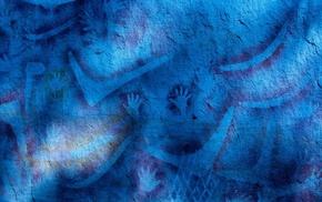 texture, artwork, blue