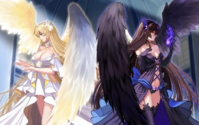 original characters, angel, anime girls, anime, fallen angel, wings