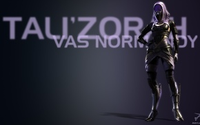 TaliZorah, purple, blue, video game characters, space, Mass Effect