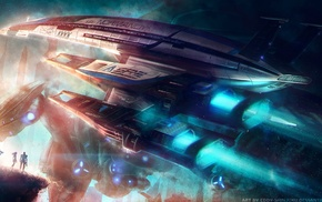 Garrus Vakarian, video game characters, blue, Thane Krios, space, Mass Effect
